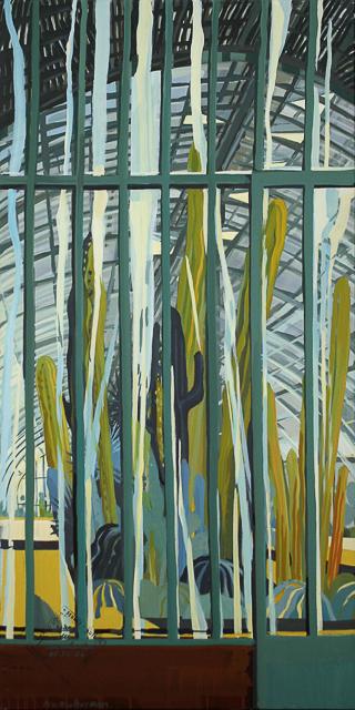 Michelle AUBOIRON - Peinture de Paris - Les Serres d'Auteuil