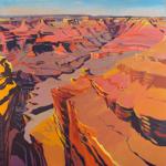 Peinture du Grand Canyon par Michelle Auboiron - Mather Point