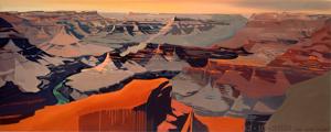 Peinture du Grand Canyon par Michelle Auboiron