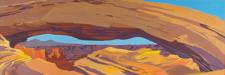 Peinture de l'Ouest américain par Michelle Auboiron - Mesa Arch - Arches National Park - Moab - Utah