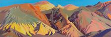 Peinture de l'Ouest américain par Michelle Auboiron - Artist Pallette - Death Valley - California