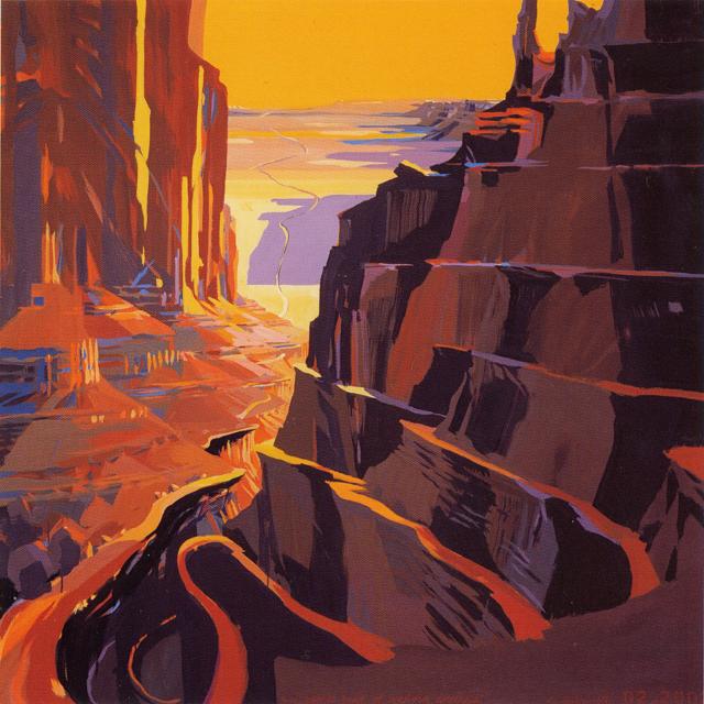 Scenic Road - Peinture inspirée de l'Ouest américain par Michelle AUBOIRON pour la fondation Colas