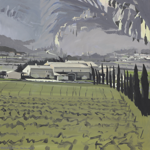 Oppède le Vieux - Peinture du Lubéron par Michelle AUBOIRON
