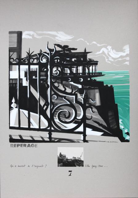 Villa Greystone - Peinture de Dinard par Michelle Auboiron - Acrylique sur carton 100 x 70 cm