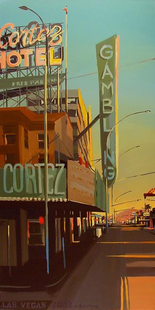 El Cortez Motel - Série Motels des fifties (Las Vegas) - Peinture de Michelle AUBOIRON