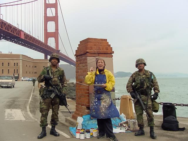 Michelle-Auboiron-Bridges-of-Fame-peinture-live-New-York-San-Francisco-2003--18