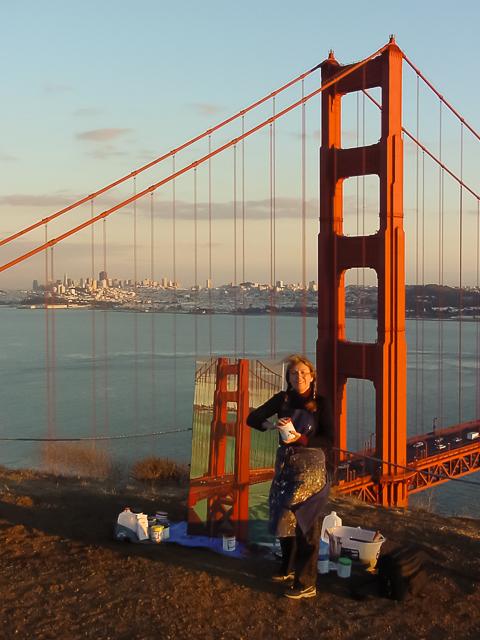 Michelle-Auboiron-Bridges-of-Fame-peinture-live-New-York-San-Francisco-2003--5