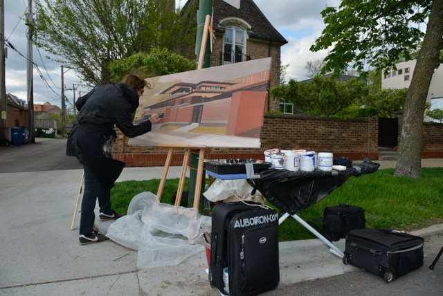 Robie-House-Frank-Loyd-Wright-Painting-Michelle-Auboiron-11