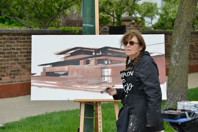 Robie-House-Frank-Loyd-Wright-Painting-Michelle-Auboiron