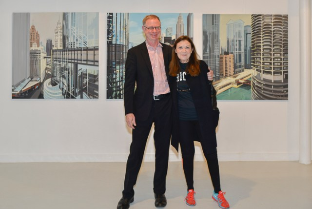 Avec Joe Burns de Thornton Tomasetti Chicago - Vernissage le 10 décembre 2015 - Photo Charles GUY
