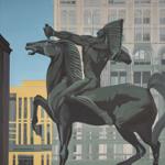 Peinture de Chicago par Michelle AUBOIRON - Painting of Chicago by Michelle AUBOIRON - The Bowman