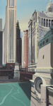 14-DuSable-Bridge-on Michigan-Avenue-Chicago-Painting-by-Michelle-Auboiron-150x75-300515