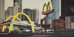 Peinture de Chicago par Michelle AUBOIRON - Painting of Chicago by Michelle AUBOIRON - The big Mac Donald's