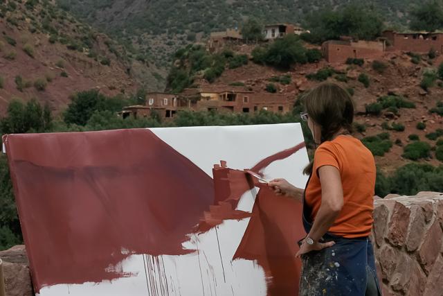 michelle-auboiron-peintre-en-action-sud-marocain-