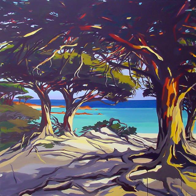 Palombaggia - Peinture de Corse de Michelle Auboiron