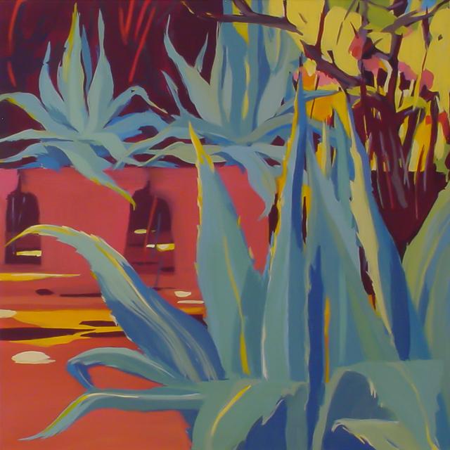 Les cactus - Peinture de Corse de Michelle Auboiron