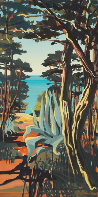 Pins et aloes - Peinture de Corse de Michelle