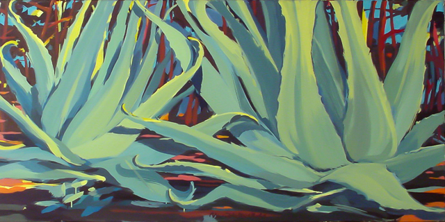 Aloès - Peinture de Corse de Michelle