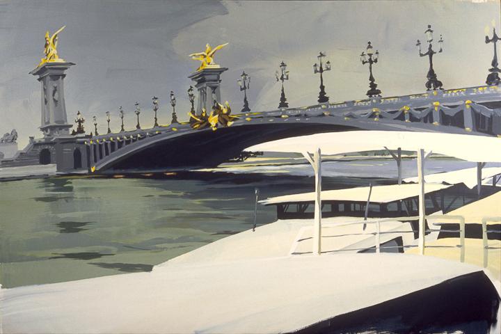 """Pont Alexandre III - Acrylique sur toile - Peinture de la série """"Les Ponts de Paris"""" de Michelle AUBOIRON"""
