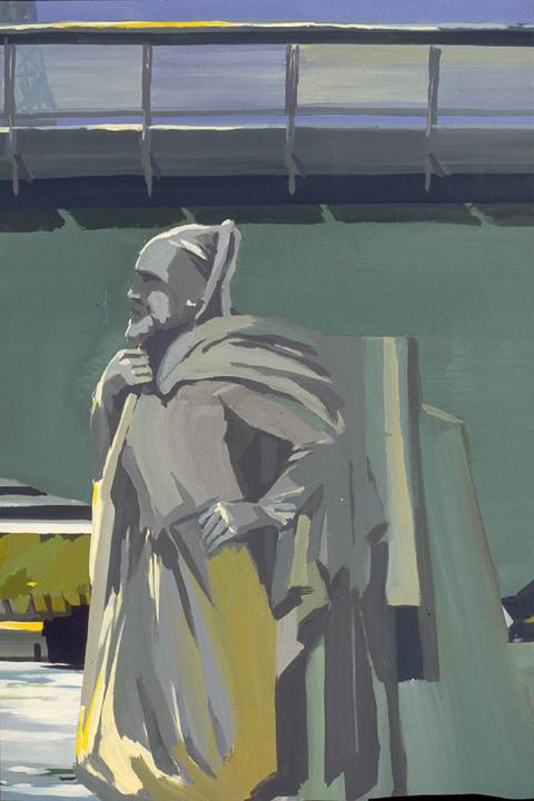 """Le Zouave du Pont de l'Alma - Acrylique sur toile - Peinture de la série """"Les Ponts de Paris"""" de Michelle AUBOIRON"""