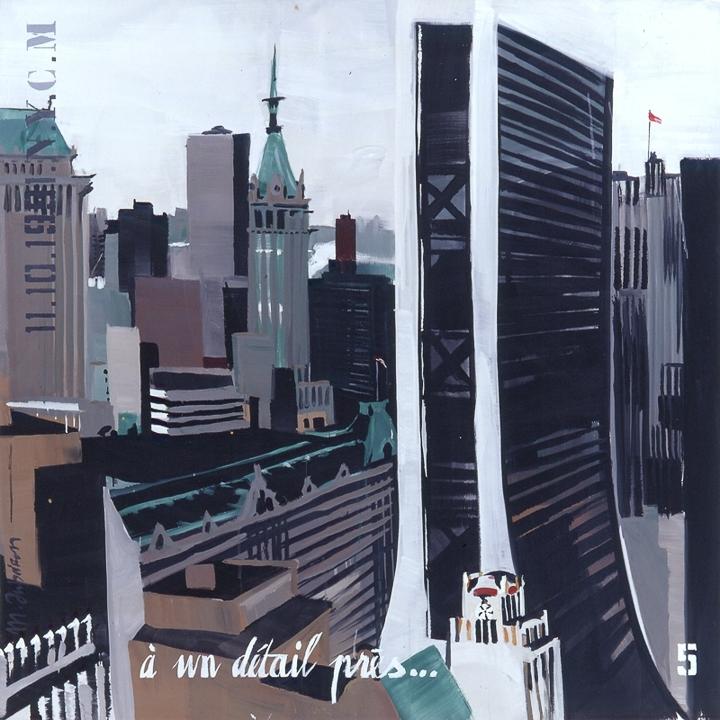 Parker Meridien 05 - Peinture de New York par Michelle AUBOIRON