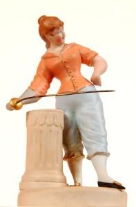 statuette escrimeuse