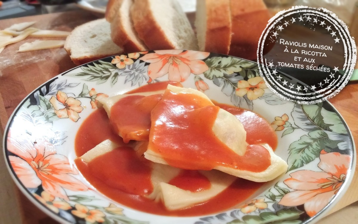 Raviolis maison à la ricotta et aux tomates séchées