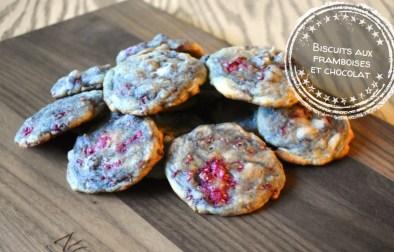 Biscuits aux framboises et chocolat - Auboutdelalangue.com