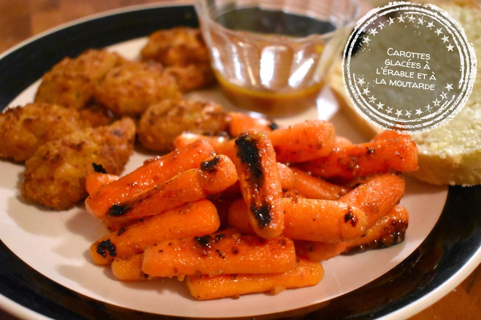 Carottes glacées à l'érable et à la moutarde - Auboutdelalangue.com