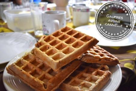 Gaufres avoine cannelle - Auboutdelalangue.com