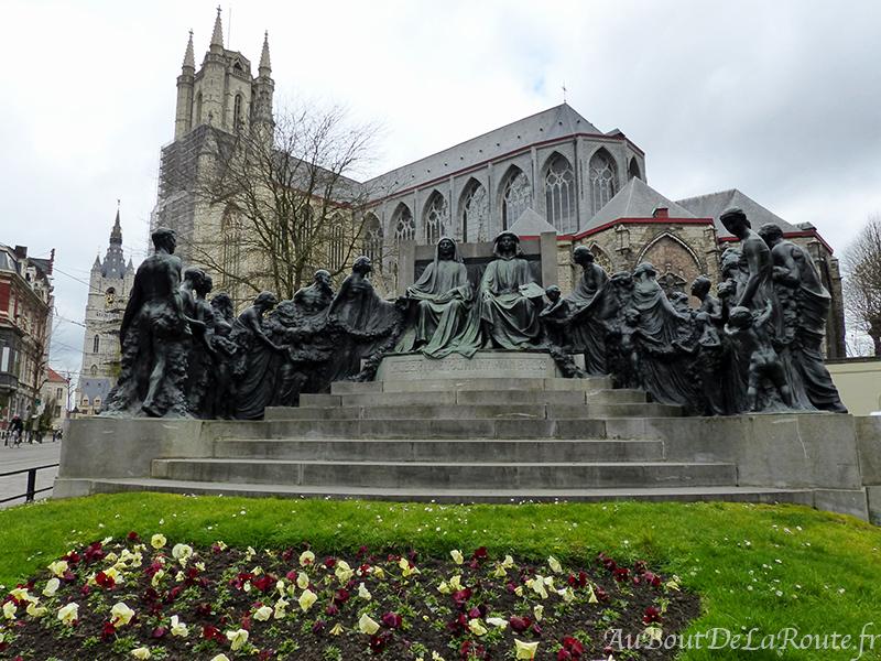 Statue des frères Van Eyck