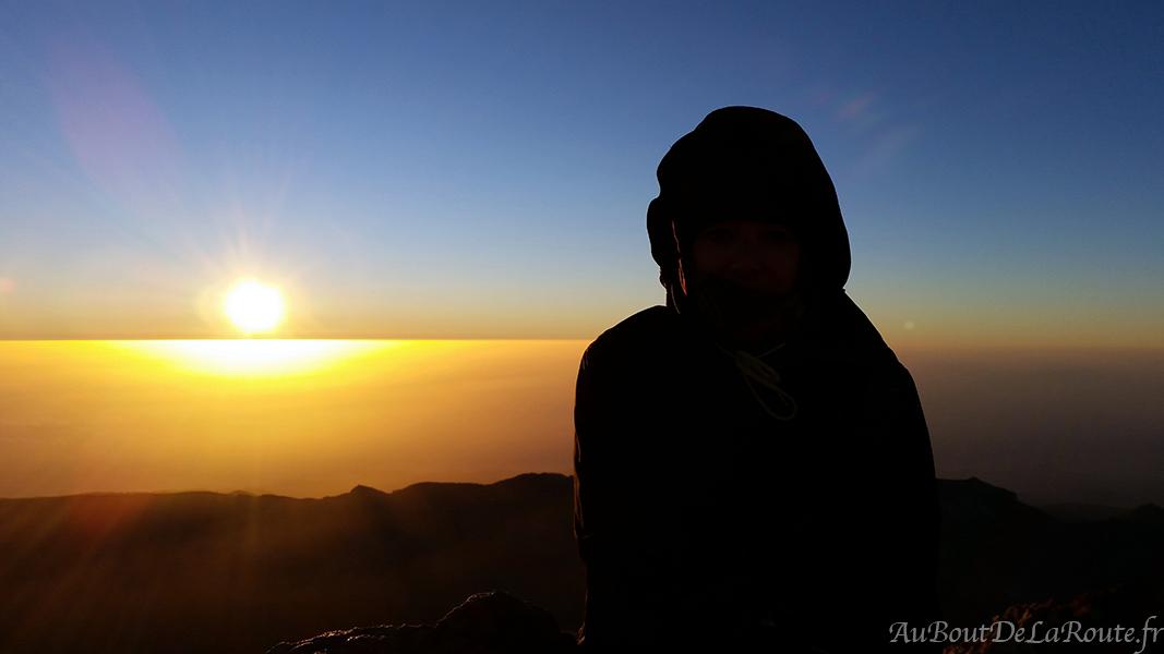 Lever du soleil sur le Teide