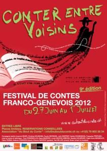 Affiche du festival Conter Entre Voisins 2012