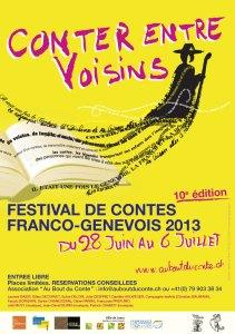Affiche festival Conter entre Voisins 2013