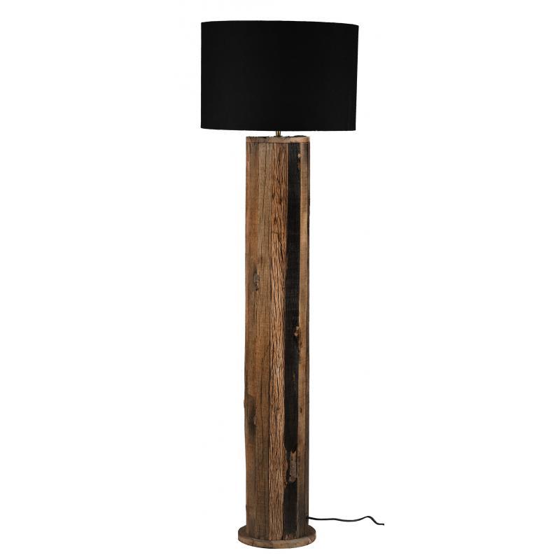 lampe sur pied en bois recycle et coton nla3050 aubry gaspard