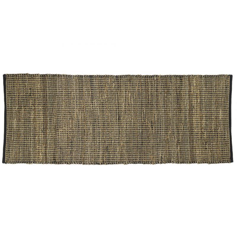tapis rectangulaire en jute et coton noir nta2280 aubry gaspard