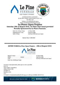 Le Pine Triples Entry