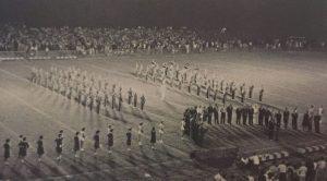 Opening night at AHS' new stadium, 1962