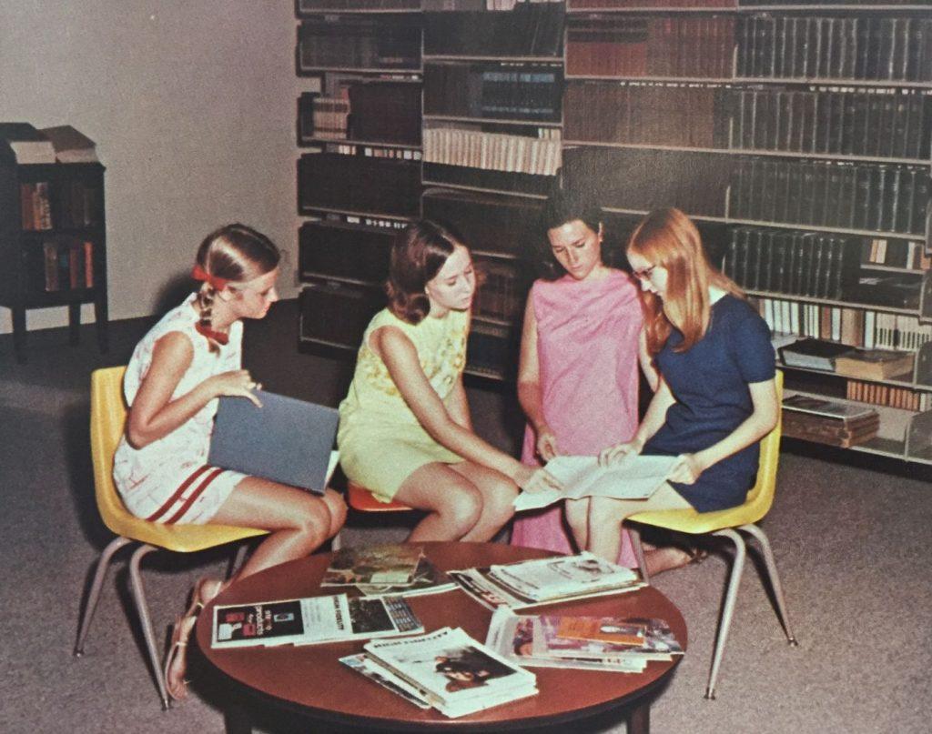 Library interior, 1970