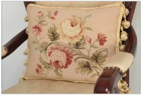 A PAIR! Chic French Aubusson Pillow PASTEL PINK Chair Sofa ...