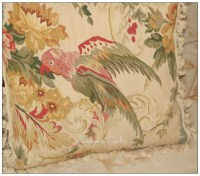 "WILDLIFE PARROT Aubusson Tapestry Pillow 20"" WOOL BIG ..."