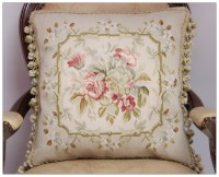 FREE SHIP! Aubusson Pillow BLUE PINK Shabby French Chic ...