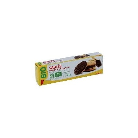 auchan bio biscuits nappes chocolat noir