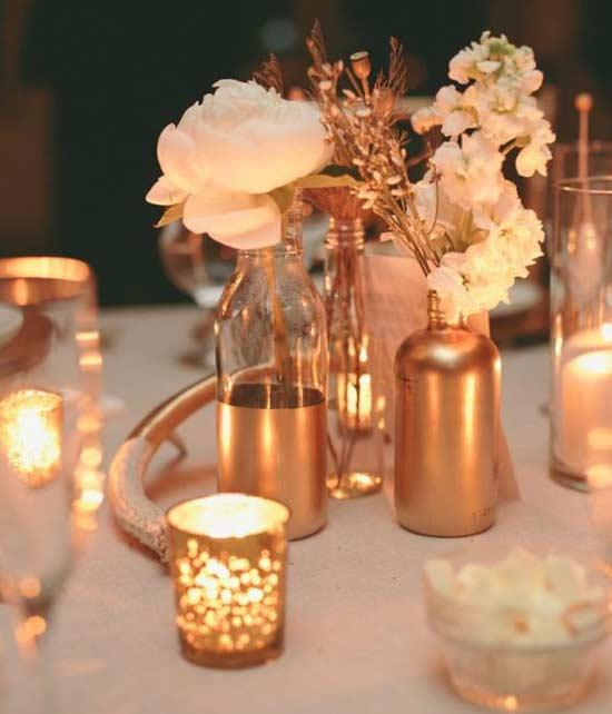 Top Wedding Trends in 2016 is Rose Gold Metallics