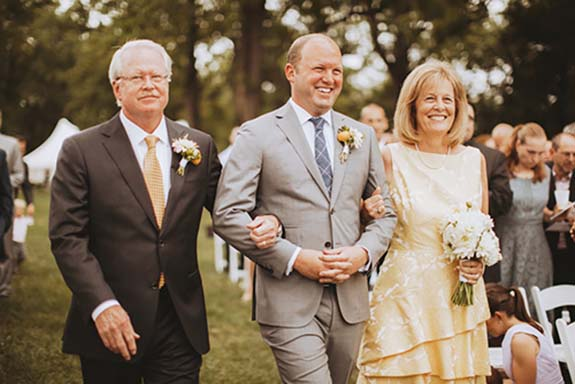 Same-sex couples put a twist on the aisle traditions