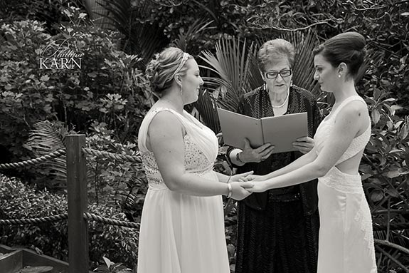 Kara and Lissy's wedding cereony with Auckland Celebrant