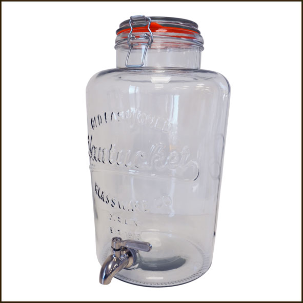 fontaine en verre pour liquide 8 5 litres socle robinet