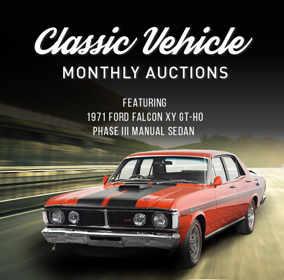 Classic Vehicle Monthly Auctions   Featuring 1971 Ford Falcon XY GT-HO Phase III Manual Sedan