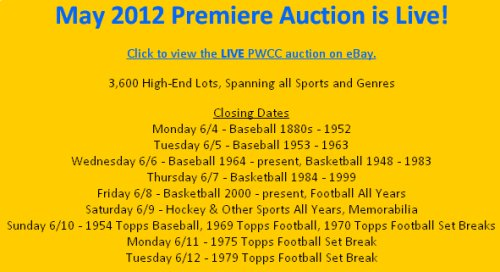 Pwcc Auctions Current Auction Ends All This Week Auction