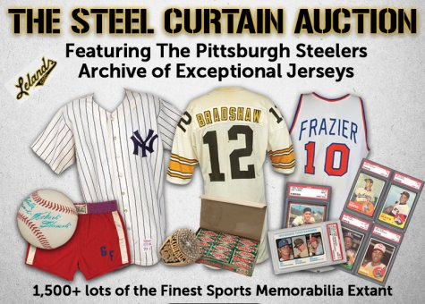 new concept de18e 37bbd Bid in Lelands 2017 Winter Auction – The Pittsburgh Steelers ...